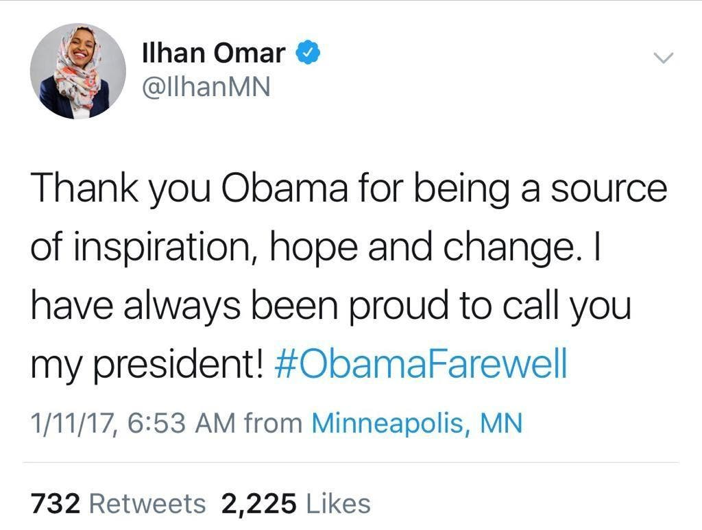 tweet by Ilhan Omar (Supplied)