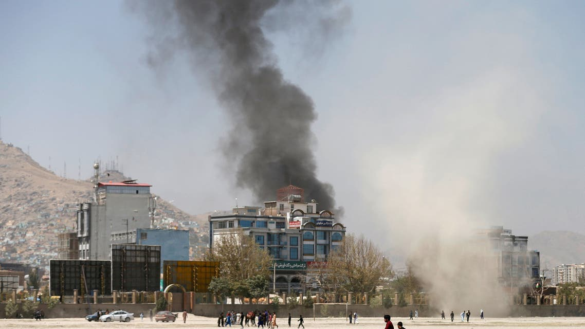 FILE PHOTO: Smoke rises from the site of an attack in Kabul, Afghanistan August 21, 2018. REUTERS/Mohammad Ismail/File Photo NO RESALES. NO ARCHIVES