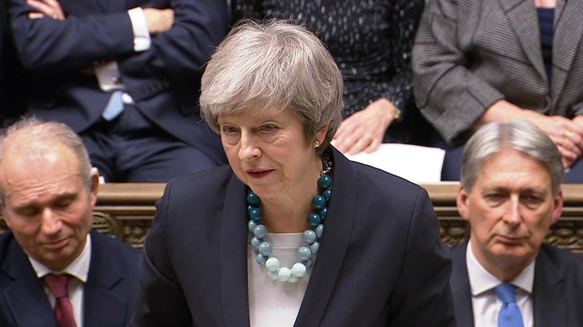 Britain's Prime Minister Theresa May makes a statement in the House of Commons. (Reuters)