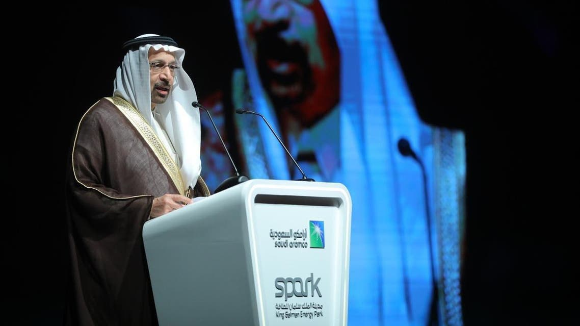 Saudi Energy Minister Khalid al-Falih during the opening ceremony of the King Salman Energy Park (SPARK) project. (SPA)