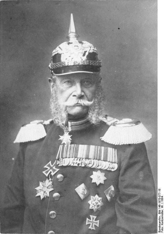 صورة للملك البروسي فيلهلم الأول