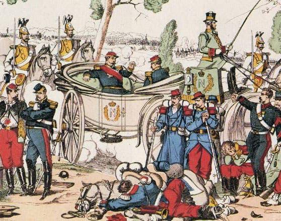 لوحة تجسد وقوع الإمبراطور الفرنسي نابليون الثالث في الأسر عقب معركة سيدان