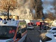 حريق كبير في روما وسط أزمة نفايات