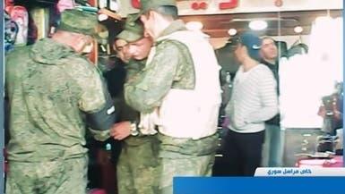 شاهد.. جنود روس يتجولون في أعرق مناطق دمشق القديمة