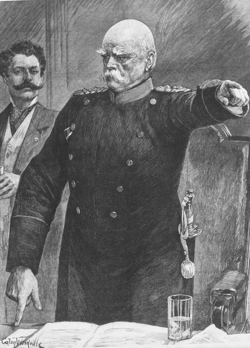 لوحة تجسد المستشار الألماني أوتو فوان بسمارك وهو غاضب