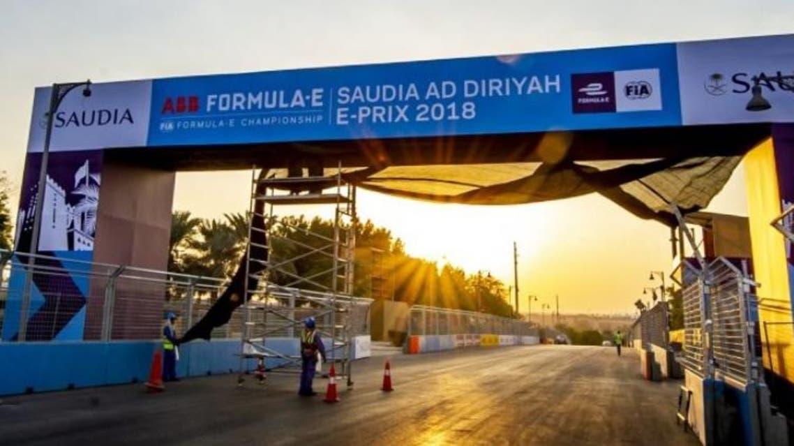 Saudi Ad Diriyah Formula E-Prix race (sCREEN GRAB)