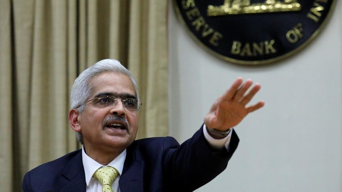 Shaktikanta Das, the new Reserve Bank of India (RBI) Governor, gestures as he attends a news conference in Mumbai, on December 12, 2018. (Reuters)