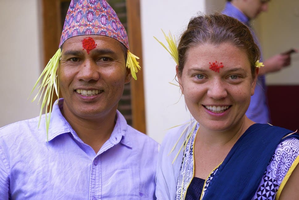 Maggies raised funds through a not-for-profit trust, which she co-founded with a Nepalese named Tope Malla. (Supplied)
