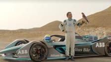WATCH: Formula E Massa take on a falcon in Saudi Arabia
