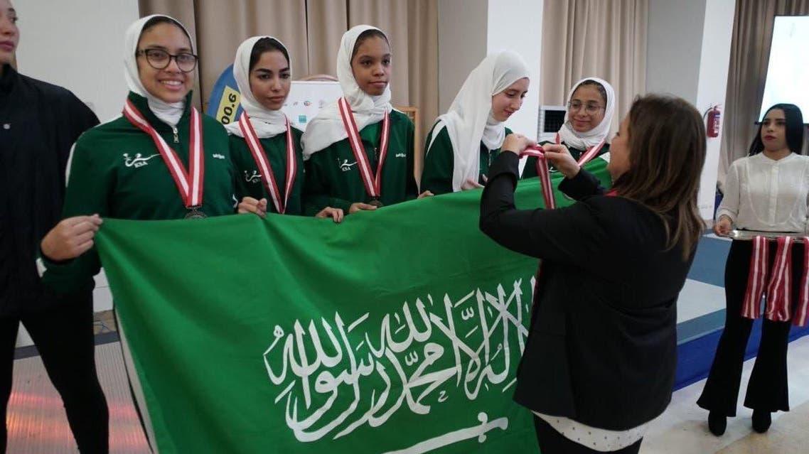 Saudi Arabia's women's fencing team. (Supplied)