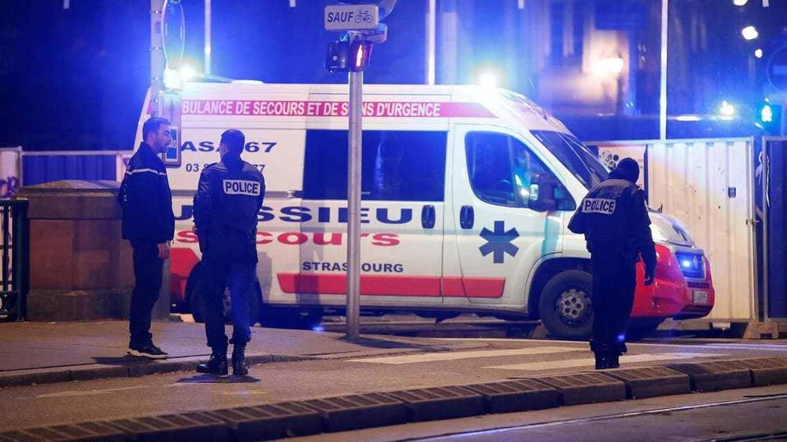 Police secure a street and the surrounding area after a shooting in Strasbourg. (Reuters)