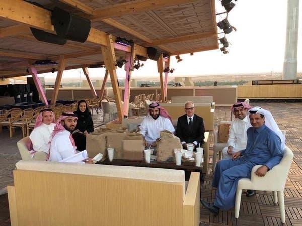 """الأمير محمد بن سلمان يتفقد مضمار """"فورمولا إي"""" بالدرعية"""