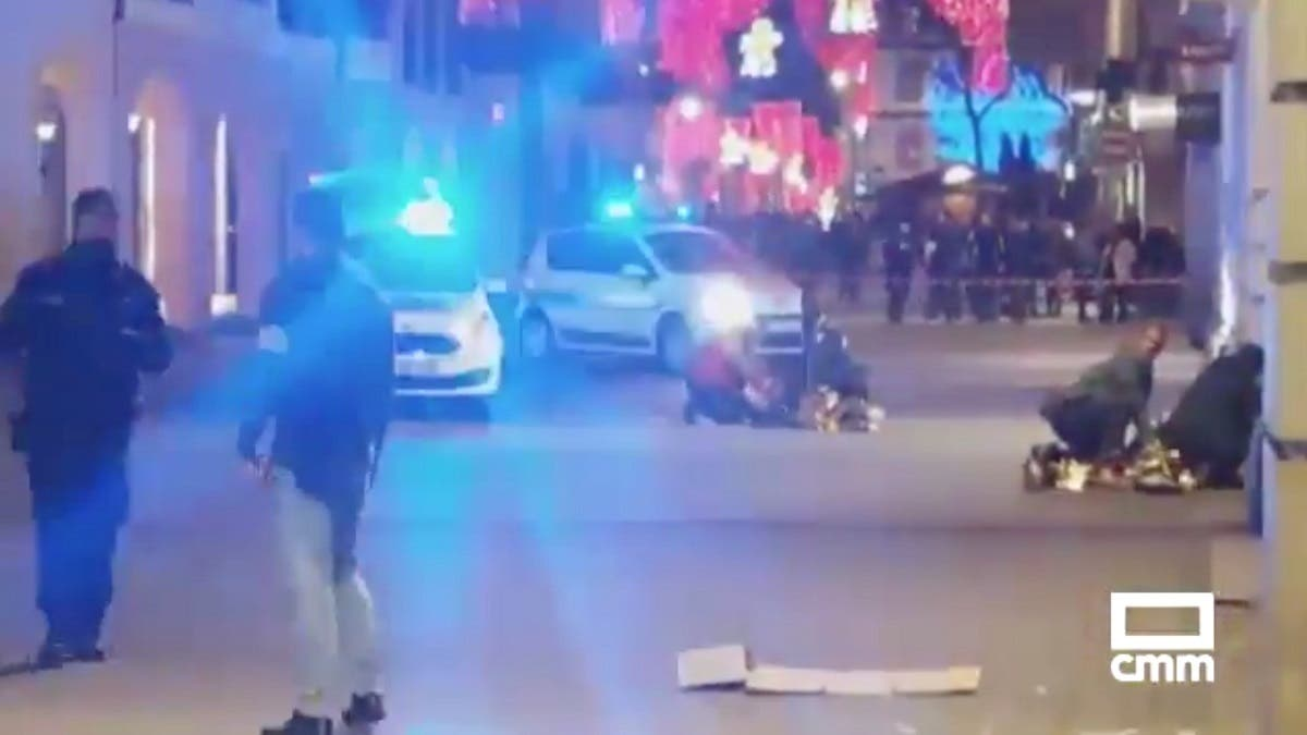 The aftermath of a shooting is seen in Strasbourg, France December 11, 2018 in this still image taken from a video obtained from social media. (@CMM_NOTICIAS/@MARIOSAAVEDRA/via Reuters)