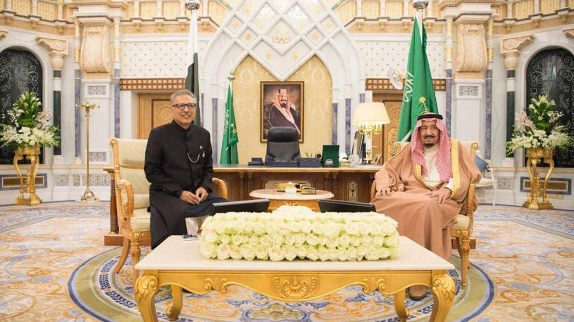King Salman Pakistan President Alvi. (SPA)