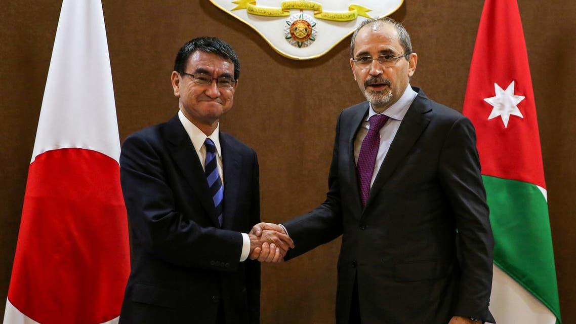 وزير الخارجية الأردني ونظيره الياباني