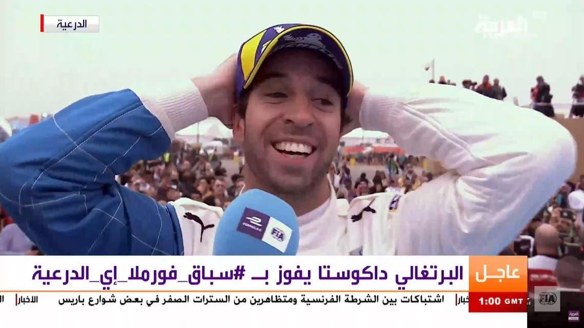 Portuguese Antonio Felix da Costa wins the the Ad-Diriyah Formula E Championship