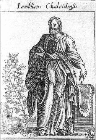 رسم تخيلي للفيلسوف السوري الروماني يامبليخوس
