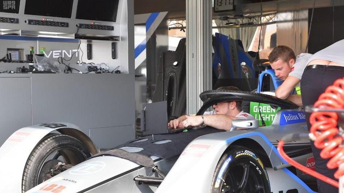 Formula E car testing. (SPA)