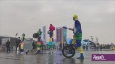 Visitors experience rainy, cold weather at the Ad-Diriyah Formula E Championship
