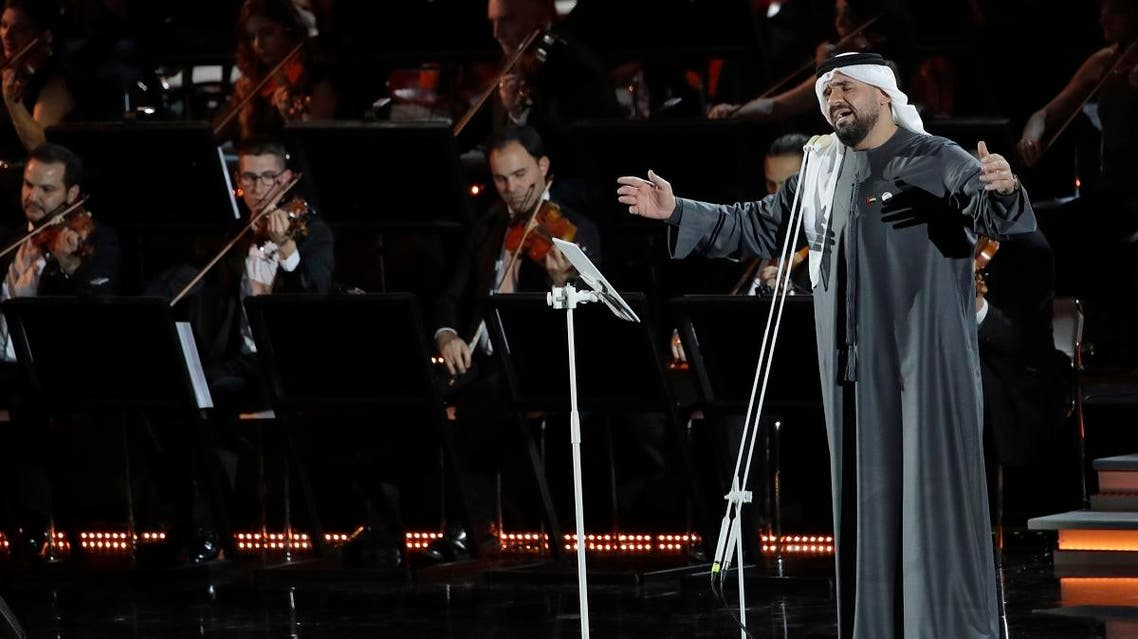Emirati singer Hussain Al Jassmi performs in the Paul VI Hall at the Vatican during the Christmas concert. (AP)