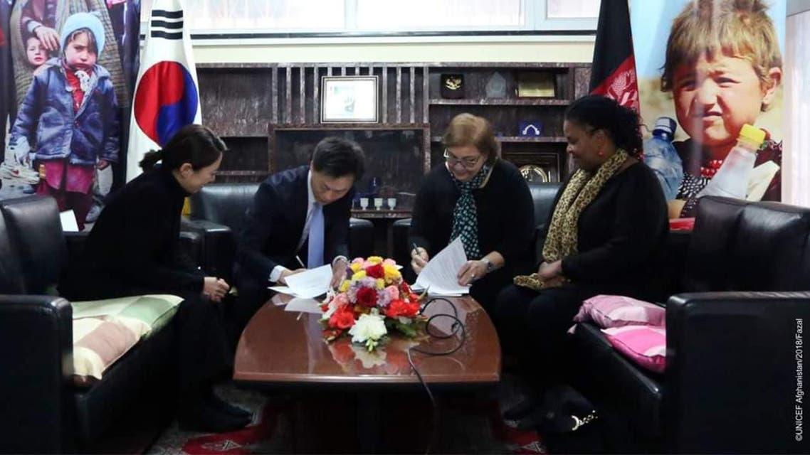 کوریای جنوبی بیش از دو میلیون دالر به اطفال و زنان افغانستان کمک کرد