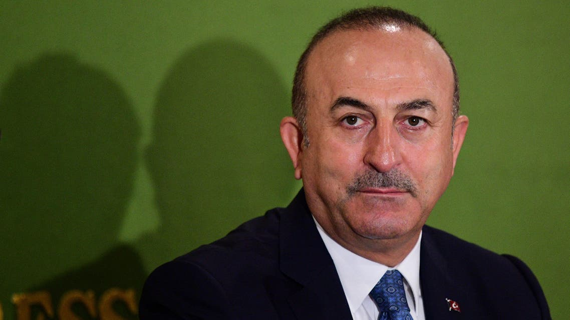Turkey's Foreign Affairs Minister Mevlut Cavusoglu holds a press conference in Tokyo on November 6, 2018.