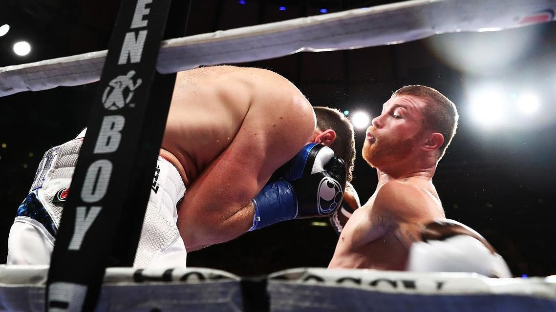 Canelo boxing middleweight championship. (AFP)