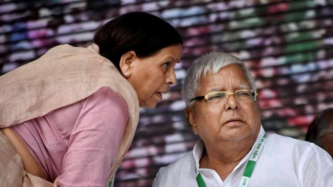 RJD chief Lalu Prasad with his wife Rabri Devi. (Supplied)