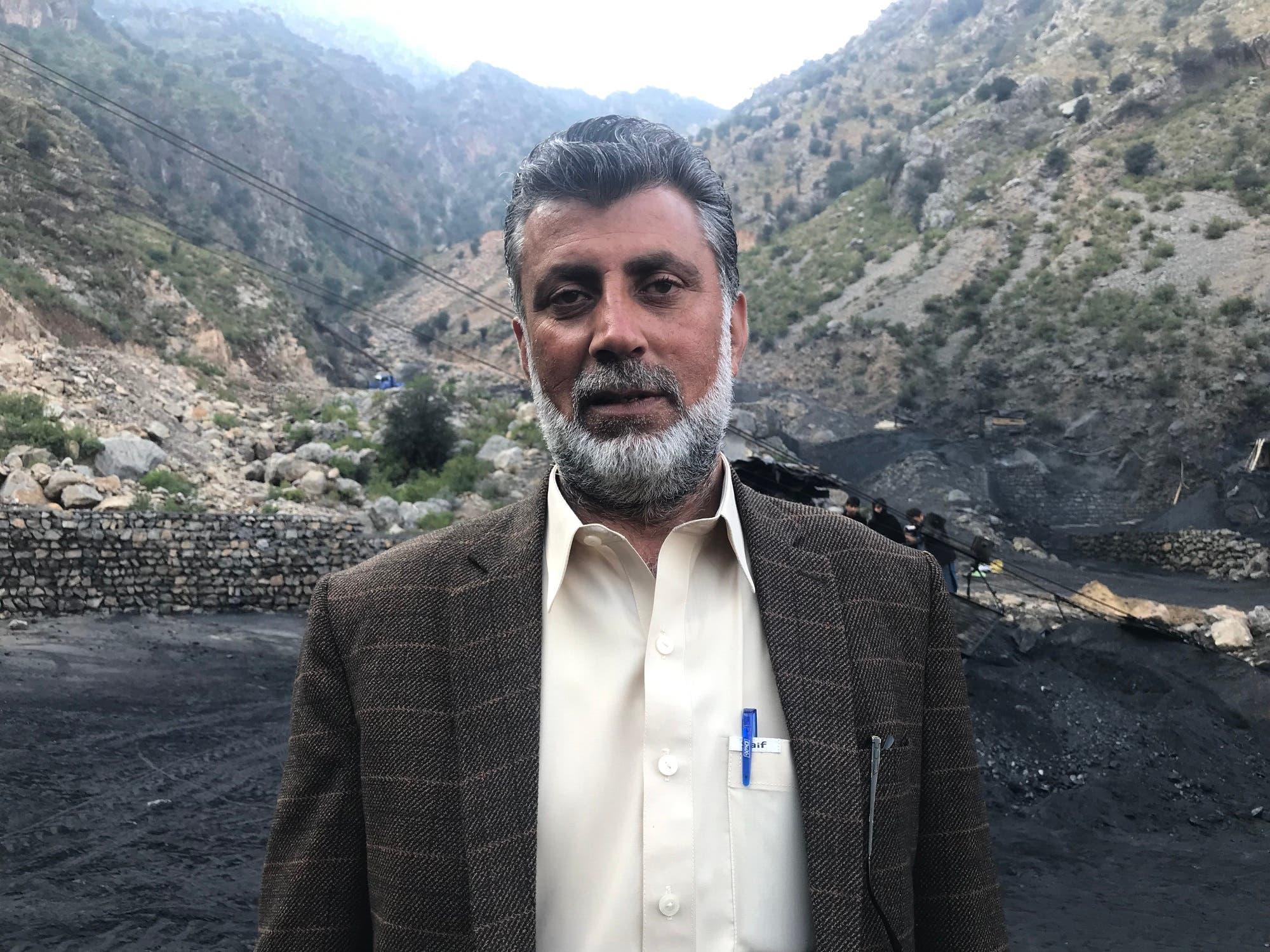 Malik Lateef, owner of Old Bazi Khel coalmine at Darra Adam Khel. (Supplied)