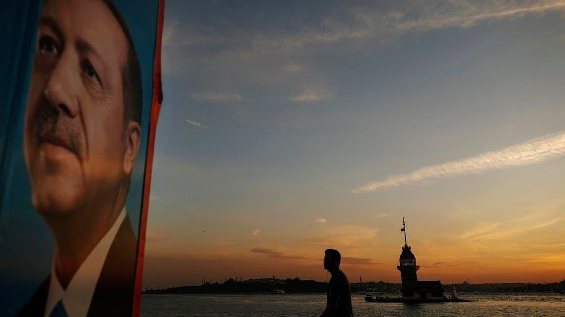 Erdogan poster. (AP)