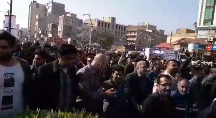 Steelworkers protests in Ahwaz Dec 16, 2018. (Supplied)