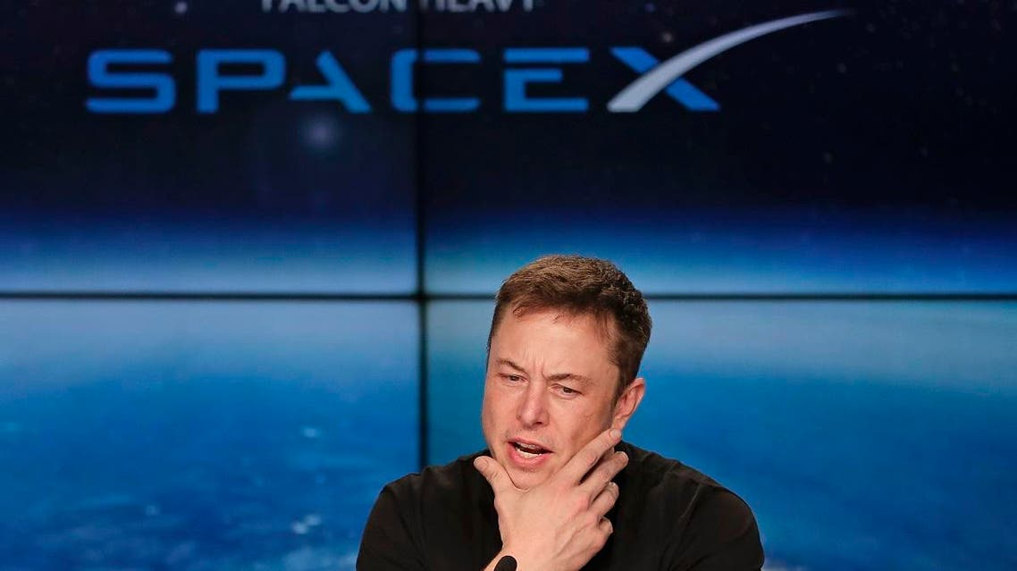 Elon Musk, founder, CEO, and lead designer of SpaceX, speaks at a news conference after the Falcon 9 SpaceX heavy rocket launched successfully from the Kennedy Space Center. (AFP)