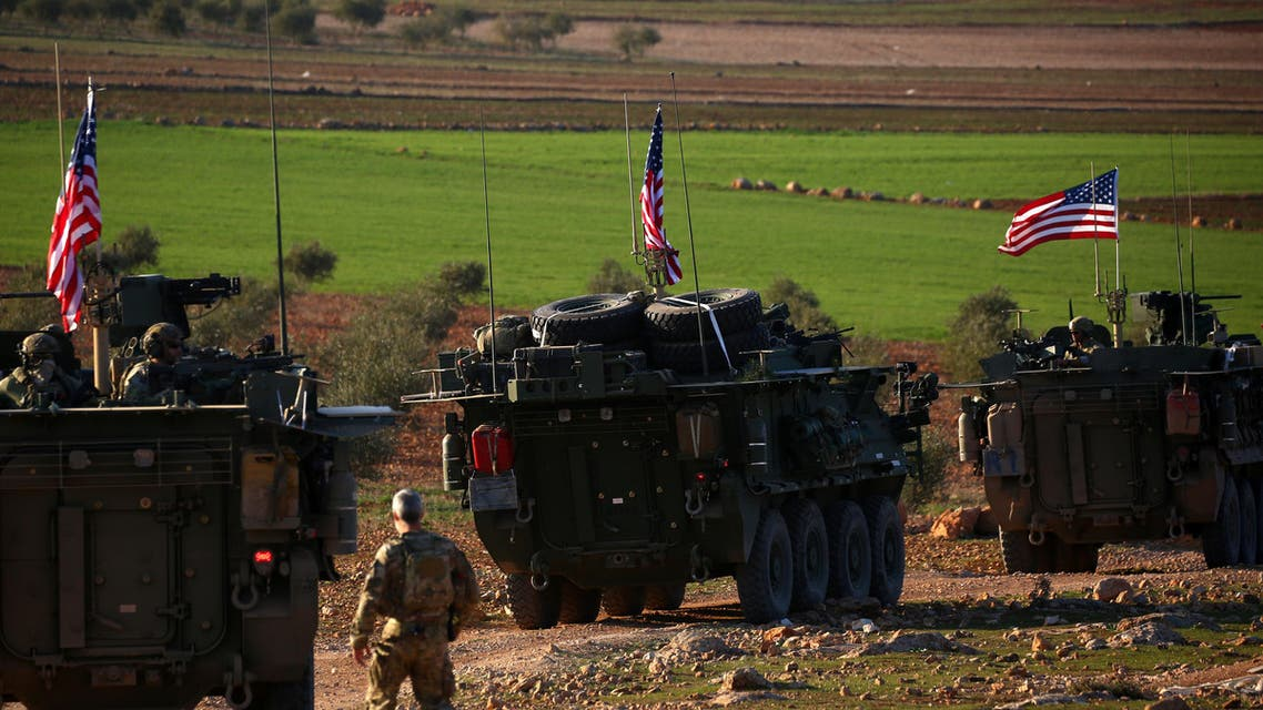 قوات أميركية في منبج بسوريا (أرشيفية- فرانس برس))