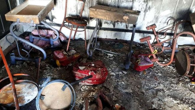 مرگ سومین دانشآموز آسیب دیده در آنشسوزی مدرسه زاهدان