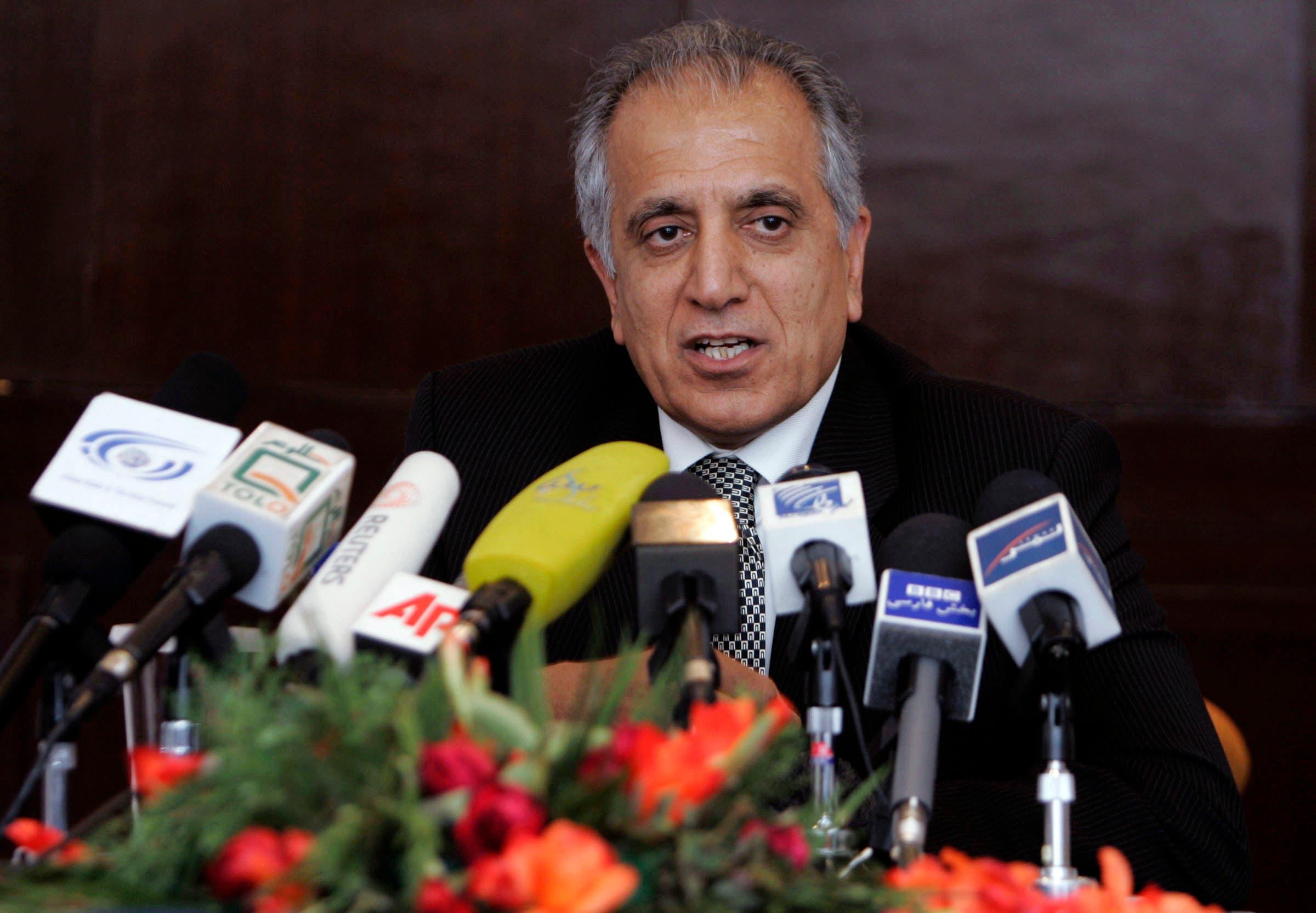 Zalmay Khalilzad in Kabul on March 13, 2009. (AP)