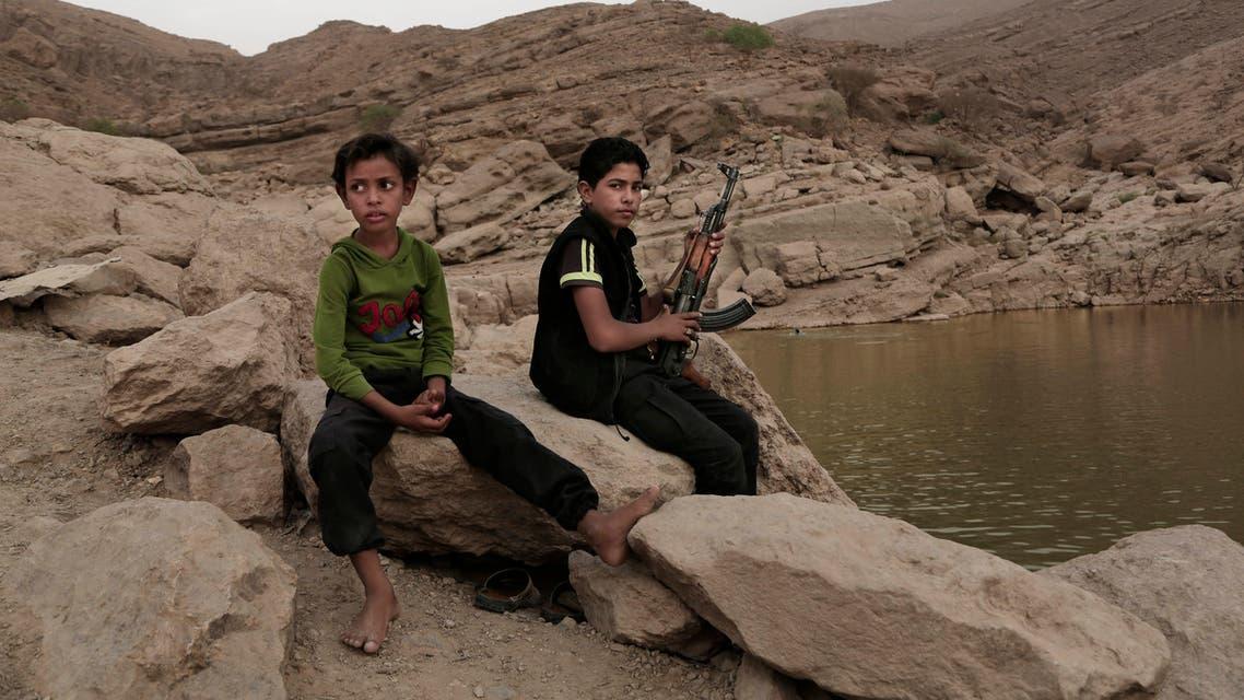 أطفال مجندون في اليمن (أسوشييتد برس)