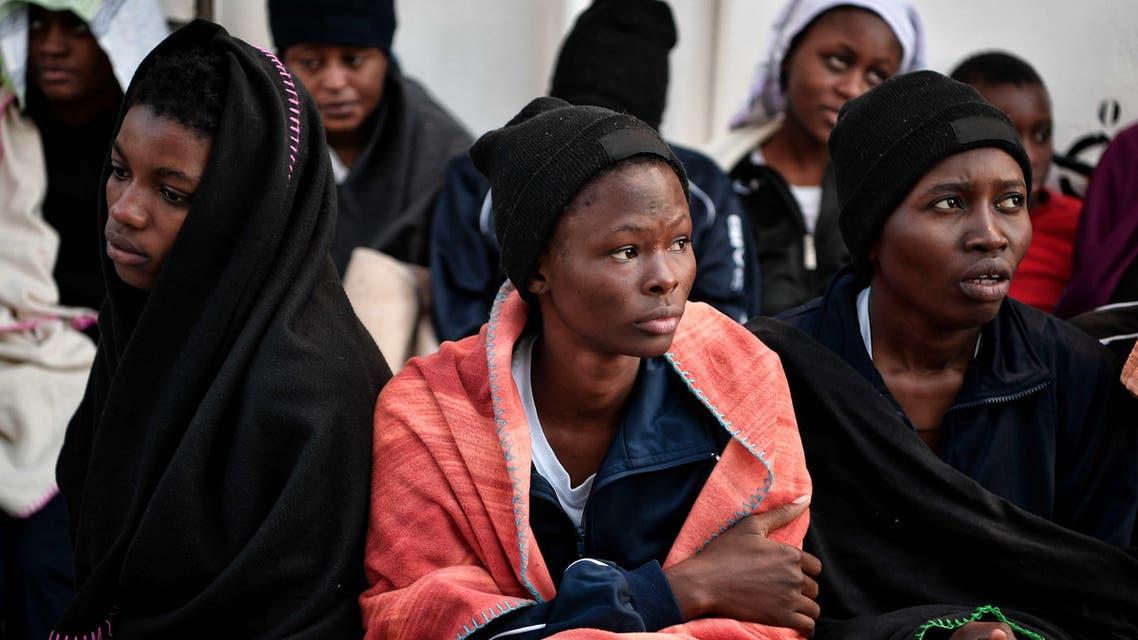 Libya women migrants