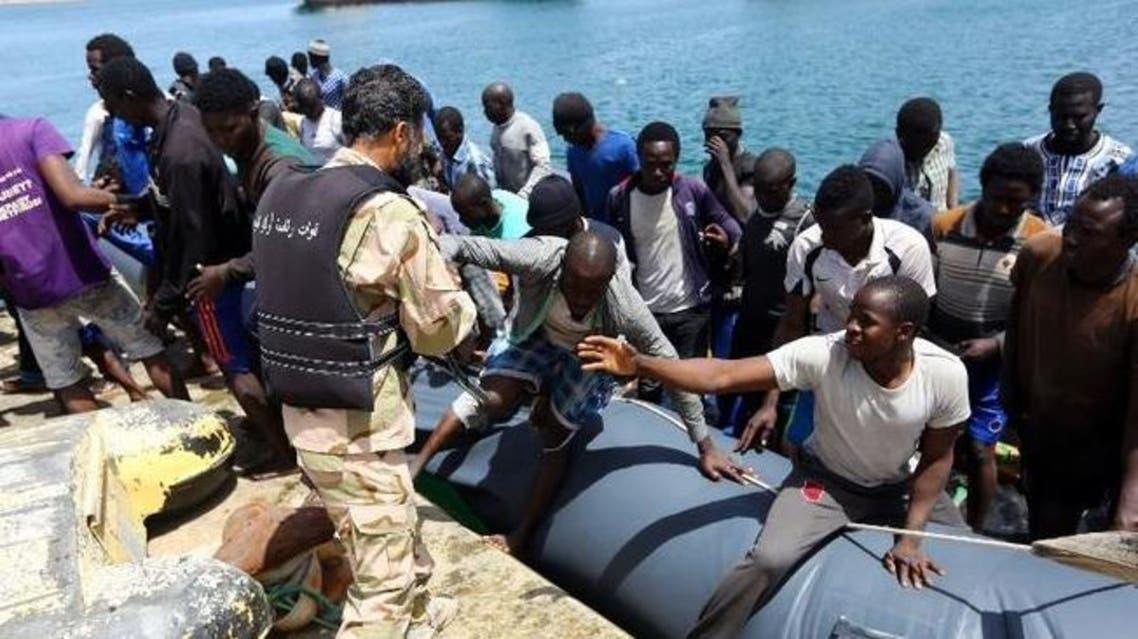 إنقاذ مهاجرين أمام سواحل ليبيا
