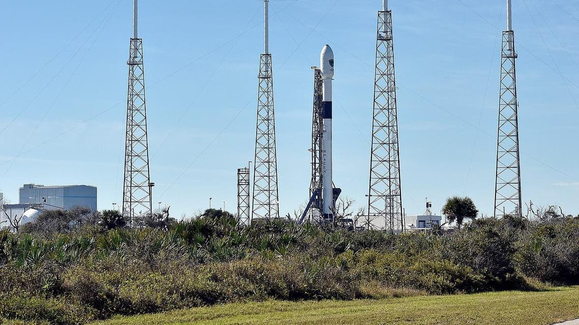 The SpaceX Falcon 9 rocket sits after the launch was postponed after an abort procedure was triggered. (File photo: Reuters)