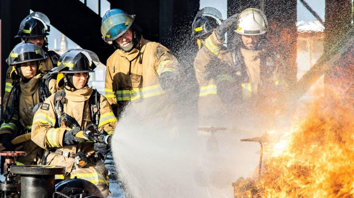 Saudi women firefighters. (Supplied)