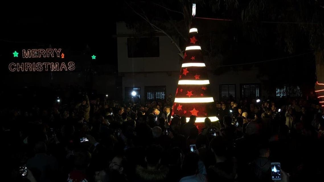 Gaza christmas celebrations. (Twitter)