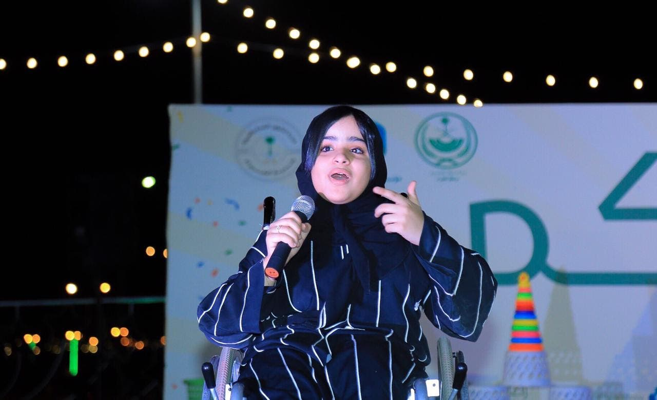 Saudi girl on wheelchair pursues passion. (Supplied)