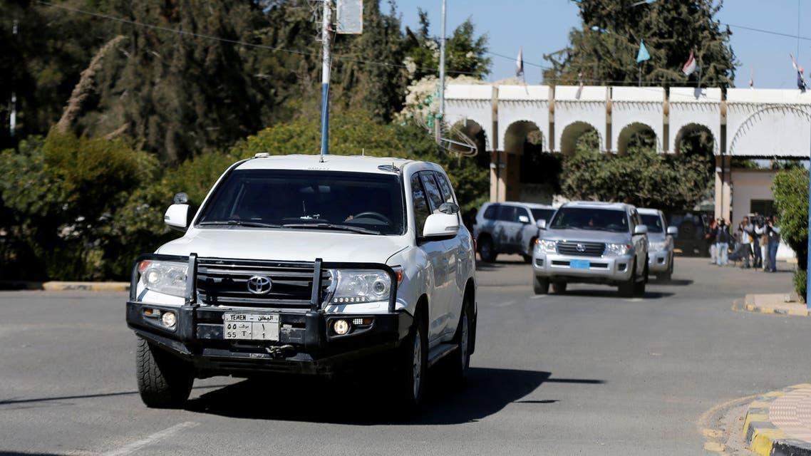 قافلة لفريق الأمم المتحدة لمراقبة الهدنة في اليمن في الحديدة