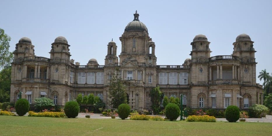 The National Academy of Indian Railways palace houses the Railway University. (Supplied)