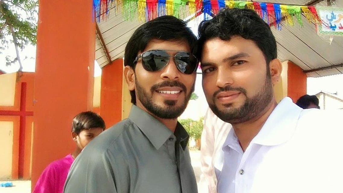 Pastor Zeeshan Alam with a guest at South Waziristan Church. (Supplied)