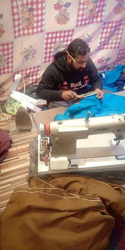 Pervez Masih at his tailoring Shop in South Waziristan. (Supplied)