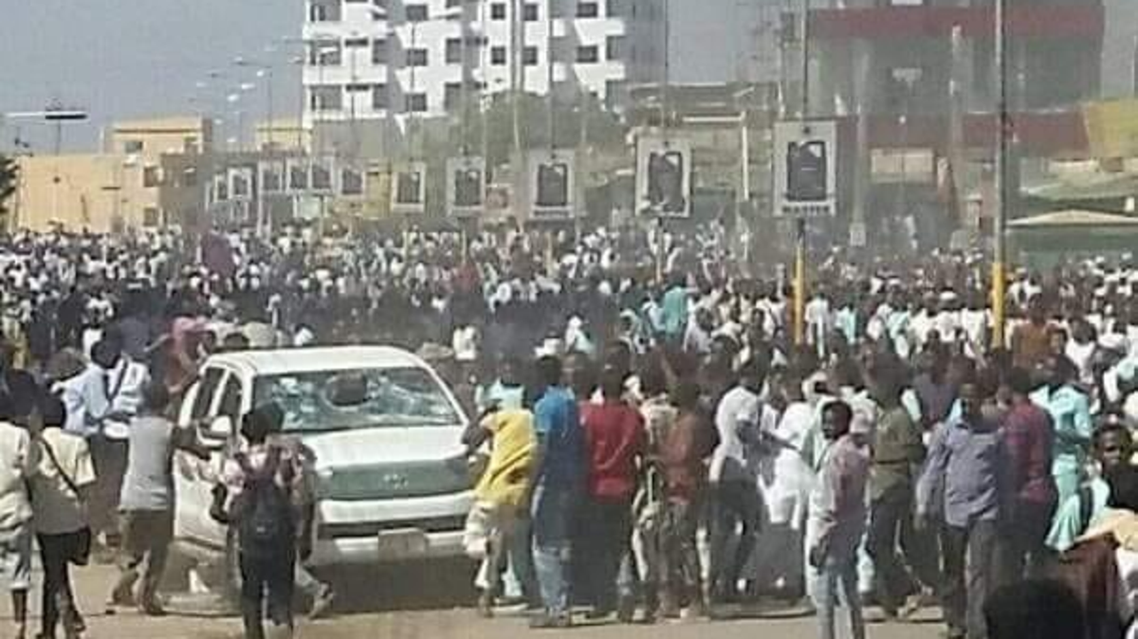 Sudan protests. (File photo: Twitter)