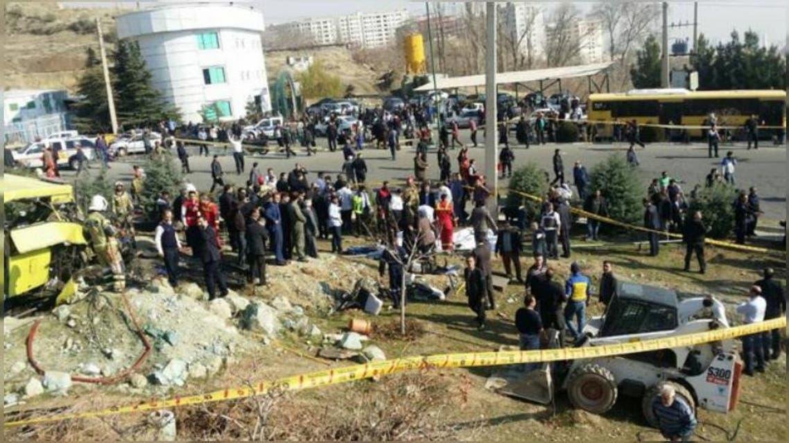کشته شدن 7 دانشجو در اثر واژگونی یک اتوبوس در تهران