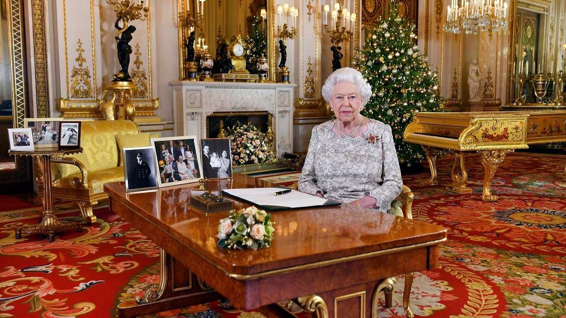 In this photo released on Monday, Dec. 24, 2018, Queen Elizabeth II poses after she recorded her annual Christmas Day message. (AP)
