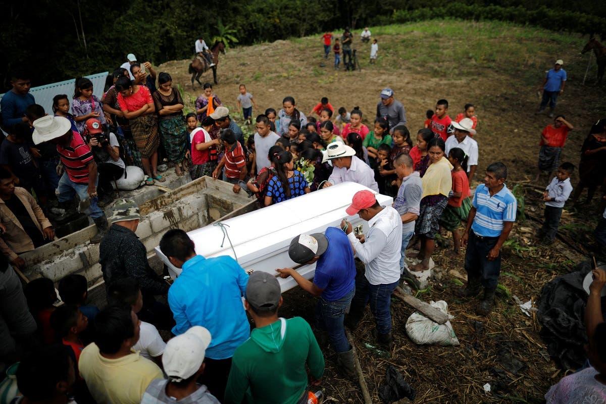 Guatemalan child Jakelin Caal's funeral. (Reuters)